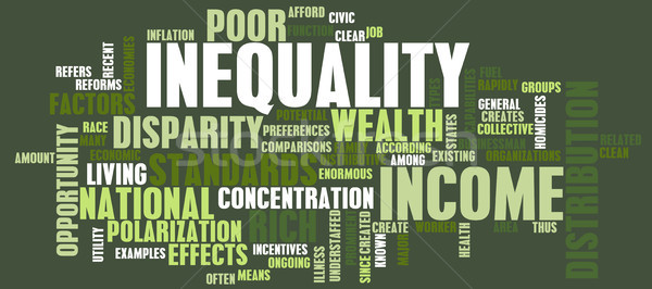 Income Inequality Stock photo © kentoh