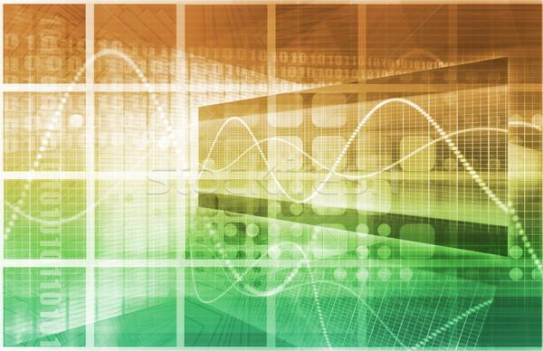 Tecnología de la información negocios resumen tecnología seguridad red Foto stock © kentoh