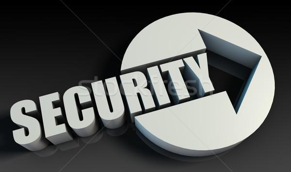Veiligheid pijl business technologie netwerk sleutel Stockfoto © kentoh