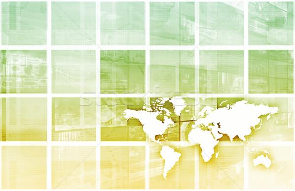 Globális üzlet siker növekedés művészet számítógép biztonság Stock fotó © kentoh
