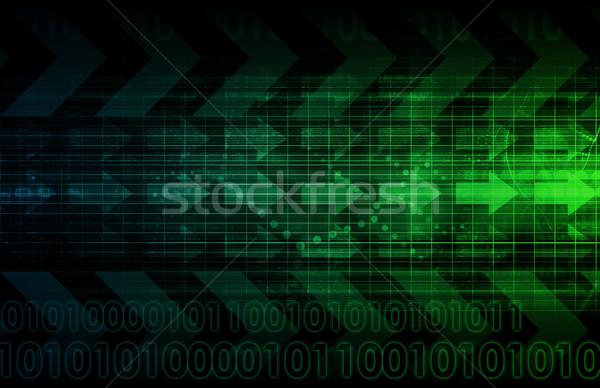 Médias sociaux tendances graphique graphique affaires temps Photo stock © kentoh