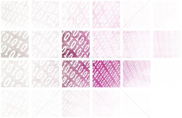 цифровой сигнала технологий аннотация шаблон искусства Сток-фото © kentoh
