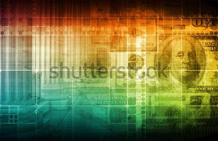 Technológia megoldások üzlet számítógép háttér hálózat Stock fotó © kentoh