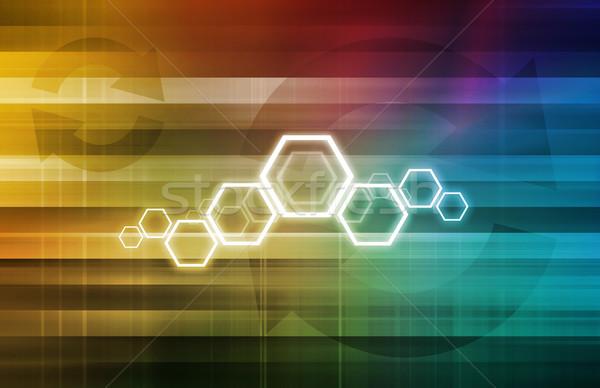Technologii rozwiązanie business network sztuki działalności nauki Zdjęcia stock © kentoh