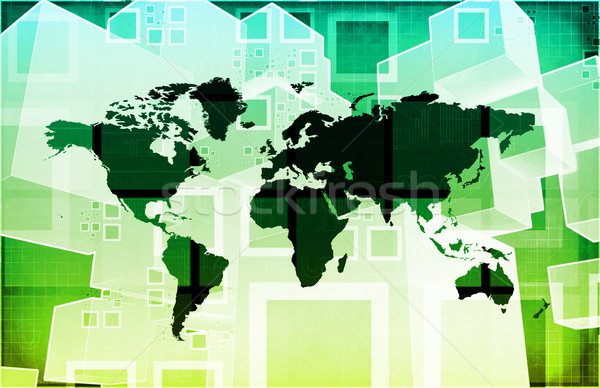 Integrado global nível abstrato rede Foto stock © kentoh