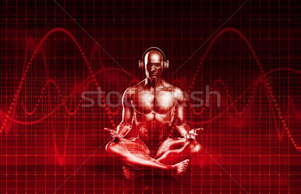 музыку опыт звук эквалайзер аннотация фон Сток-фото © kentoh