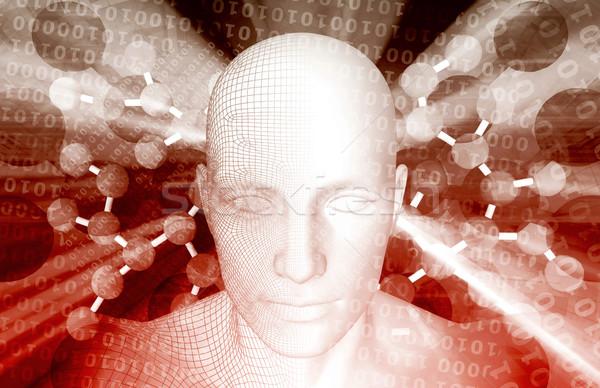 Neurone chimica molecolare ricerca computer uomo Foto d'archivio © kentoh