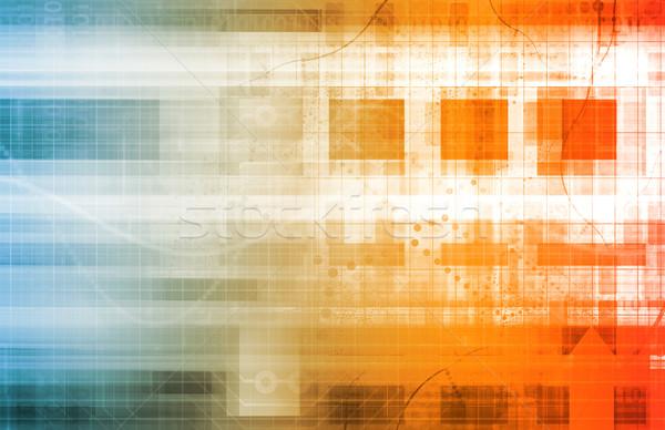 Digital red tecnología resumen arte negocios Foto stock © kentoh