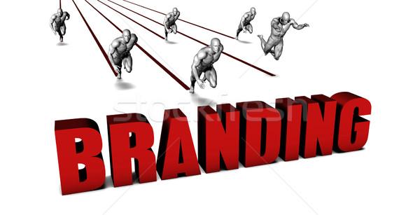 Jobb branding üzleti csapat versenyzés üzlet férfiak Stock fotó © kentoh
