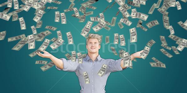 Man Catching Money Falling From the Sky Stock photo © kentoh