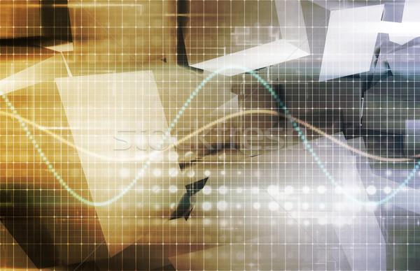Base de données rapports données analyse affaires fond Photo stock © kentoh