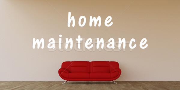 Otthon karbantartás belső művészet ipar kanapé Stock fotó © kentoh