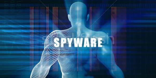 Spyware футуристический аннотация технологий Сток-фото © kentoh