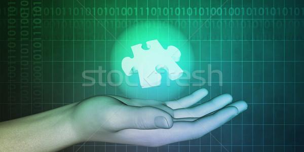 Industrial ingeniería diseno soluciones negocios ordenador Foto stock © kentoh