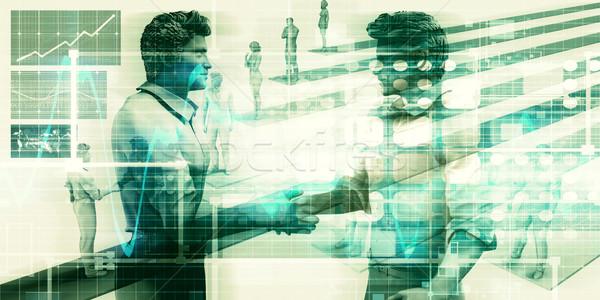 Befejezés üzlet kezdet üzlet megállapodás kezek Stock fotó © kentoh