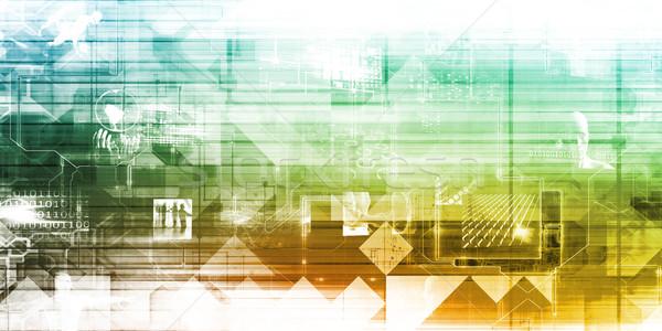 Date reţea rapid în mişcare calculator Internet Imagine de stoc © kentoh