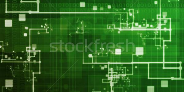 Informatique résumé art internet design fond Photo stock © kentoh