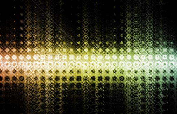 スタイリッシュ 現代 トレンディー 芸術 抽象的な コンピュータ ストックフォト © kentoh