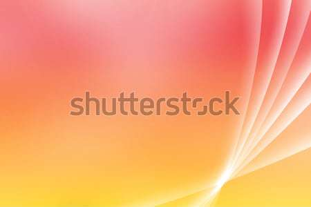 Orange Soothing Vista Curves Stock photo © kentoh
