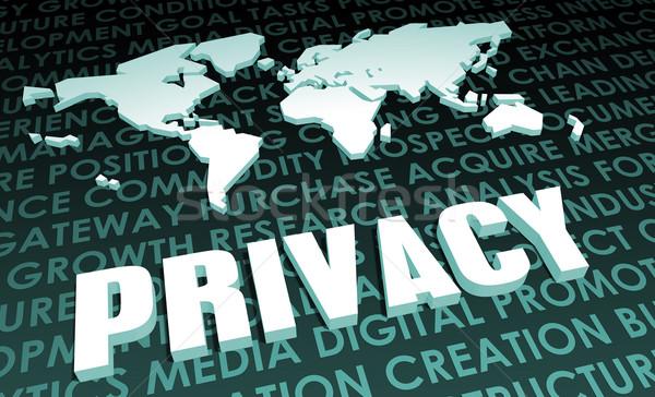 Privacy industria globale di serie 3D mappa Foto d'archivio © kentoh