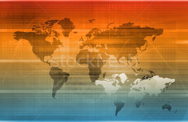 Global tecnologia da informação startup mundo servidor teia Foto stock © kentoh