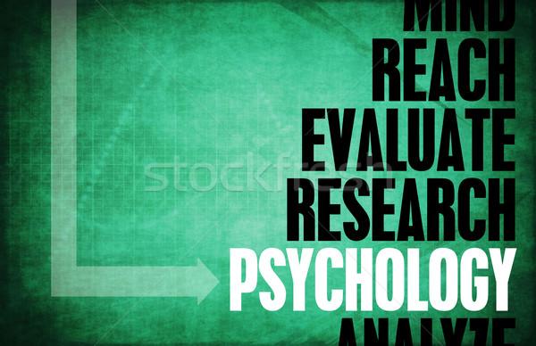 Psychologie clé concepts scientifique étude fond Photo stock © kentoh