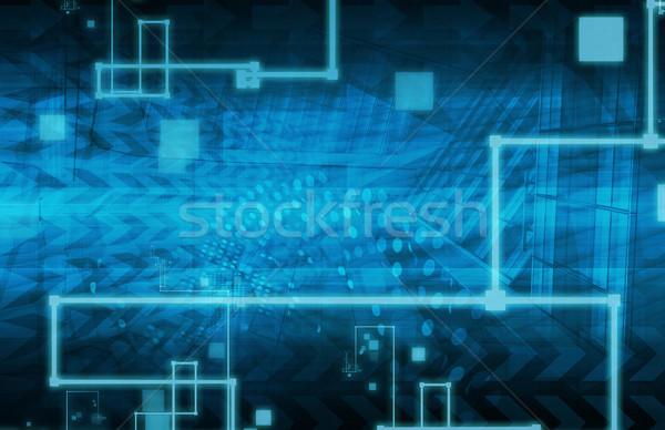 Technologia informacyjna rozwiązania prezentacji sztuki działalności komputera Zdjęcia stock © kentoh