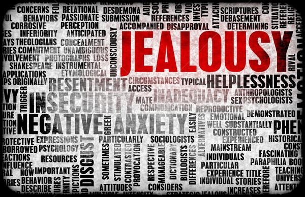 Jaloezie negatieve emotie kunst concept persoonlijke Stockfoto © kentoh