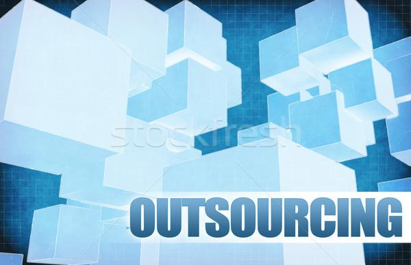Terceirização futurista abstrato apresentação deslizar fundo Foto stock © kentoh