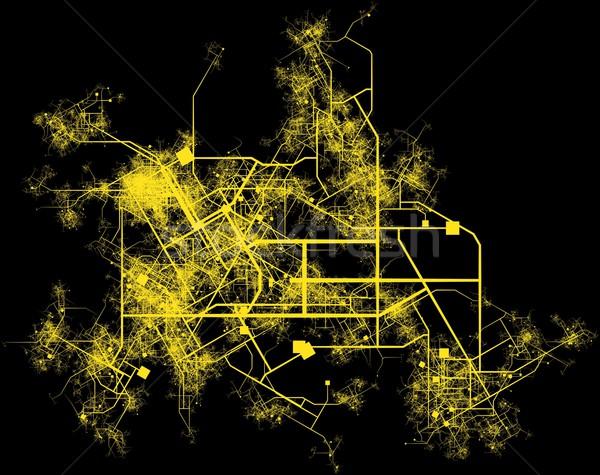 şehir altyapı planlama yollar binalar ülke Stok fotoğraf © kentoh