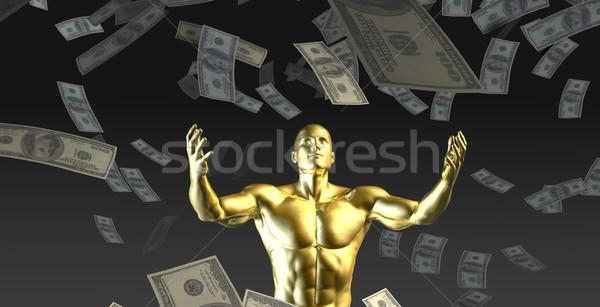 Stock fotó: Pénz · zuhan · égbolt · férfi · alatt · háttér