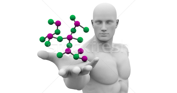 Man Observing Molecule Structure Stock photo © kentoh