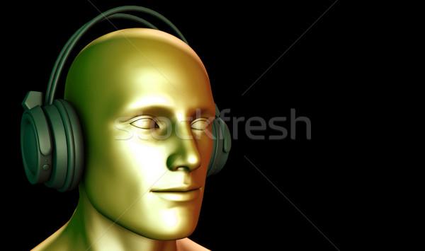 Zene terápia szellemi stressz közzététel szexi Stock fotó © kentoh