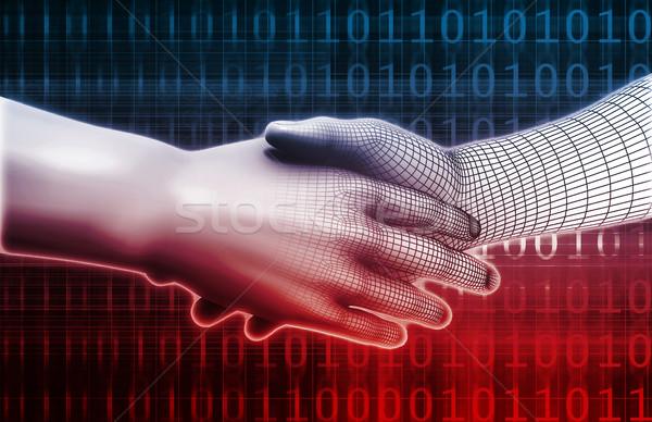 Homme machine intégration design analytics technologie Photo stock © kentoh