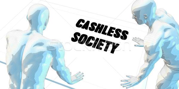 Sociedade discussão reunião de negócios arte homens digital Foto stock © kentoh