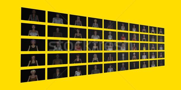 Estratégia de marketing negócio homens grupo conferência Foto stock © kentoh
