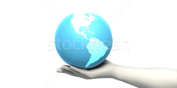 Businessman Working With Global Technology Stock photo © kentoh