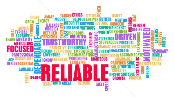 Reliable Word Cloud Concept Stock photo © kentoh