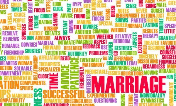 Evlilik başarılı bir çift Stok fotoğraf © kentoh