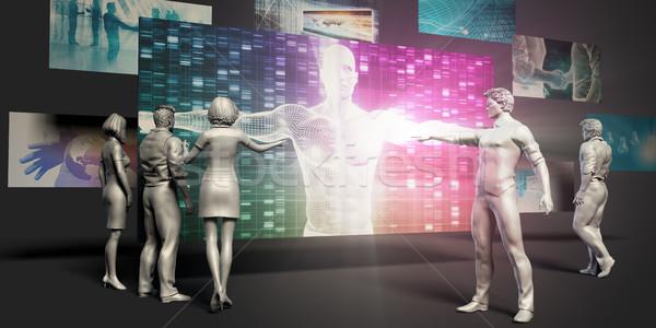 Genética ciência virtual apresentação fundo monitor Foto stock © kentoh