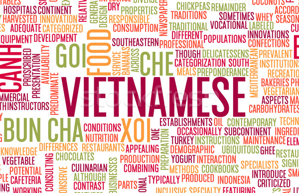 Vietnamese Food Menu Stock photo © kentoh