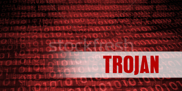 Trojan Security Warning Stock photo © kentoh