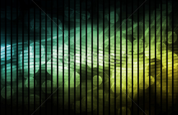 未来的な ネットワーク ウェブ データ グリッド 色 ストックフォト © kentoh