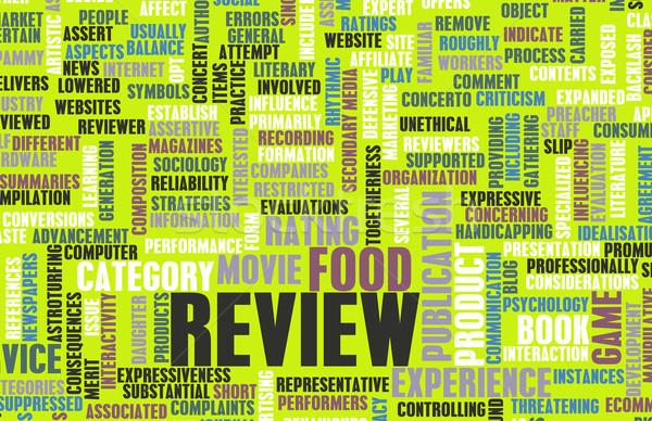 Food Review Stock photo © kentoh