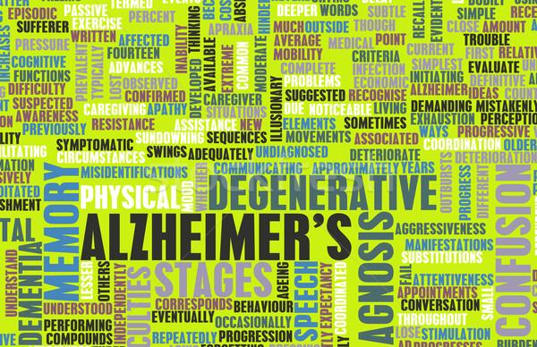 Maladie d'alzheimer démence médicaux état cerveau personne Photo stock © kentoh