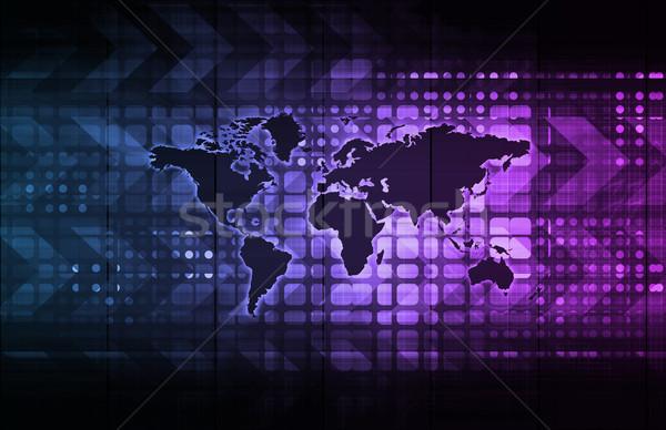 Logistique technologie société partout dans le monde réseau banque Photo stock © kentoh