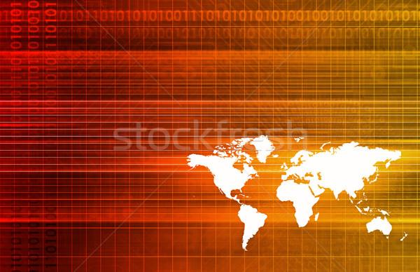 Badania naukowe futurystyczny technologii streszczenie tekstury bezpieczeństwa Zdjęcia stock © kentoh