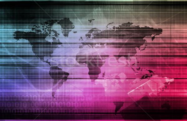 Globális informatika startup világ technológia szerver Stock fotó © kentoh