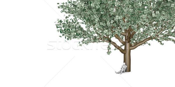 Man Sitting Underneath a Money Tree Stock photo © kentoh