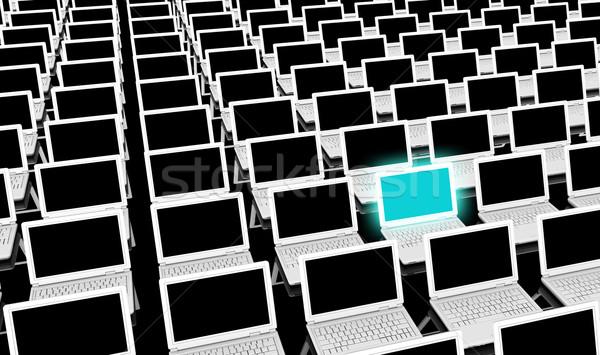 Computer opleiding leren kantoor school technologie Stockfoto © kentoh